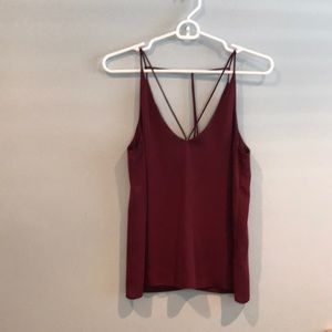 Burgundy Topshop Cami with strap details